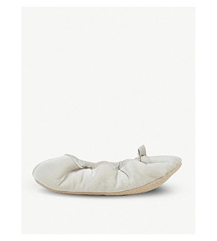 THE WHITE COMPANY Velvet ballet slippers (Oyster