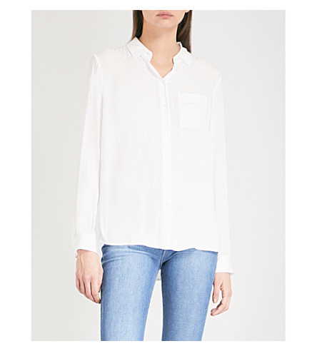 THE WHITE COMPANY Long-sleeved woven shirt (Ivory