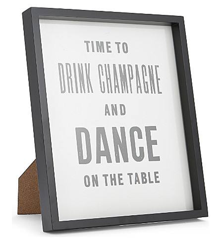 THE WHITE COMPANY Drink Champagne framed print (Black