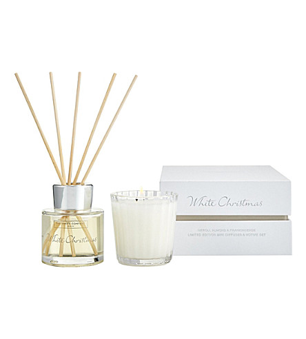 THE WHITE COMPANY White Christmas mini diffuser and votive candle set (No+colour