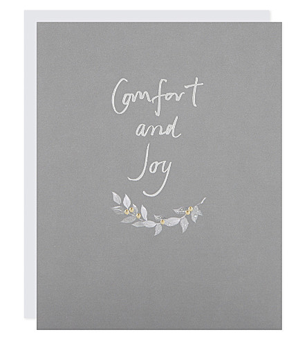 THE WHITE COMPANY Sentiment Christmas cards pack (White