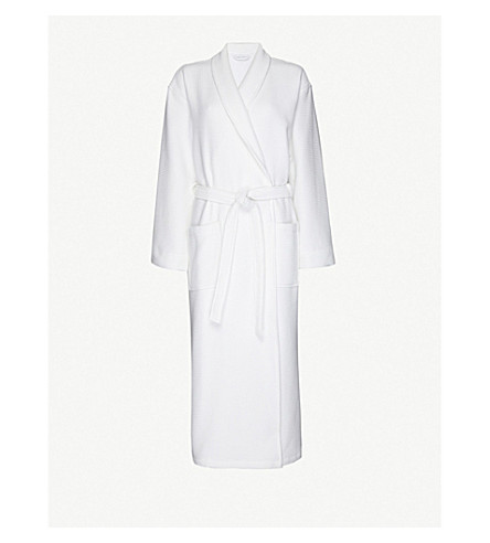 THE WHITE COMPANY Cotton robe xs-xl (White