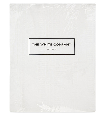 THE WHITE COMPANY Waffle stripe double cotton quilt (White