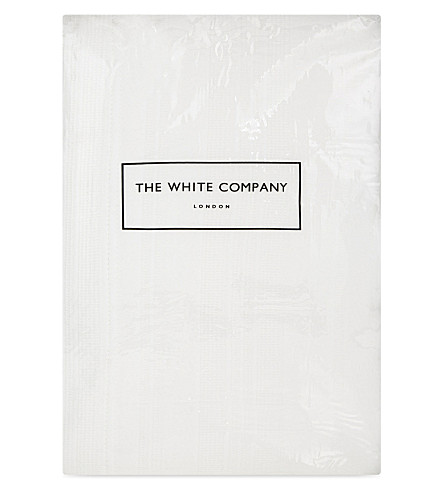THE WHITE COMPANY Waffle stripe king cotton quilt (White