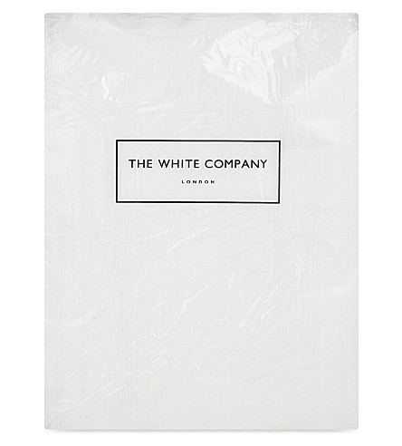 THE WHITE COMPANY Waffle stripe single cotton quilt (White