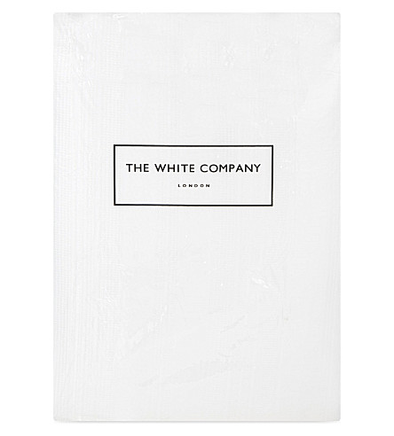 THE WHITE COMPANY Waffle stripe superking cotton quilt (White