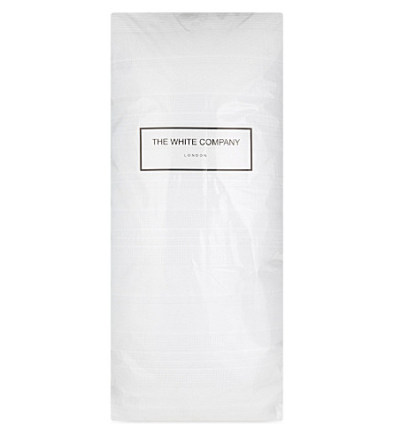 THE WHITE COMPANY Waffle stripe cotton cushion (White