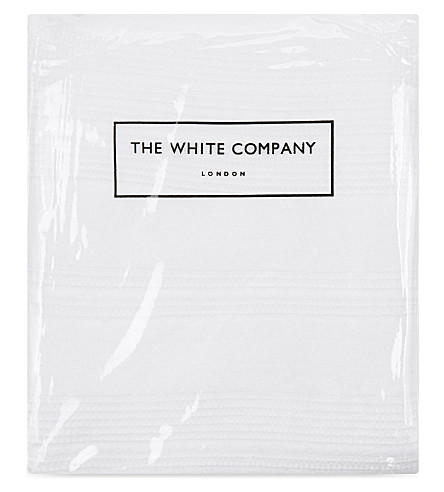 THE WHITE COMPANY Waffle stripe cotton medium square cushion cover (White