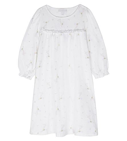 THE LITTLE WHITE COMPANY Winter fairy print cotton nightdress 1-6 years (White