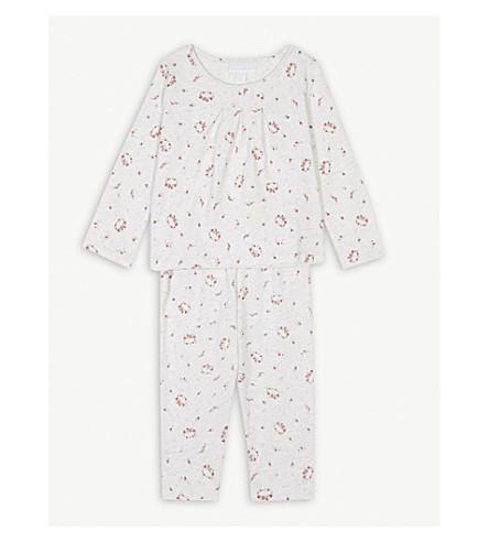 THE LITTLE WHITE COMPANY Winter floral cotton pyjamas 0-24 months (Multi
