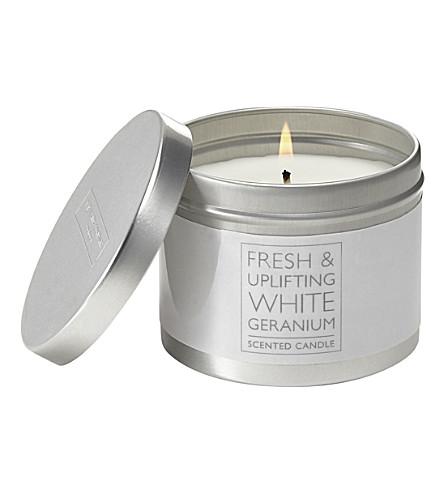 THE WHITE COMPANY White Geranium scented candle (No+colour