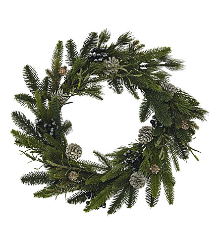 THE WHITE COMPANY Rosemary & pinecone wreath (Natural