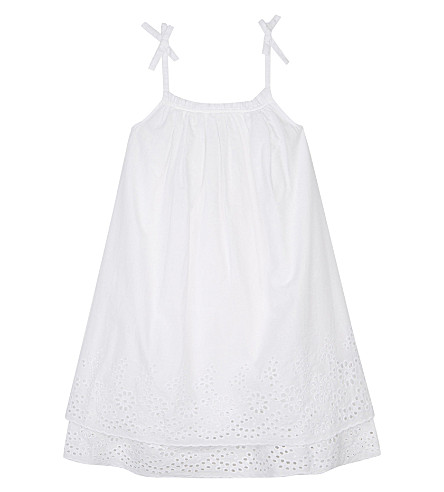 THE LITTLE WHITE COMPANY Broderie Anglaise cotton A-line dress 1-6 years (White