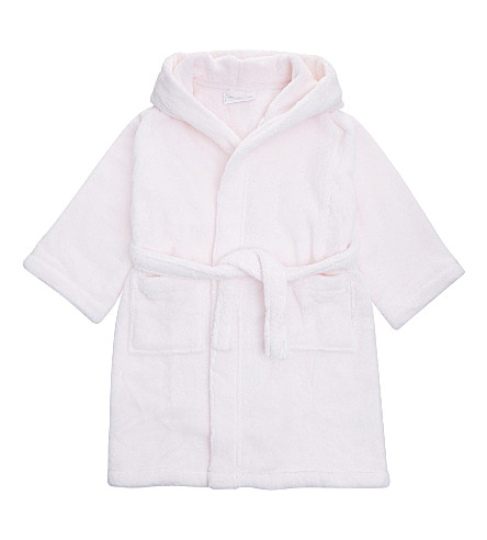 THE LITTLE WHITE COMPANY Hydrocotton dressing gown 1-6 years (Whisper+pink
