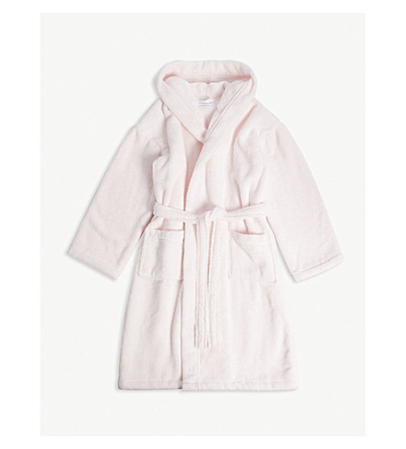 THE LITTLE WHITE COMPANY Whisper hydrocotton robe 5-12 years (Whisper+pink