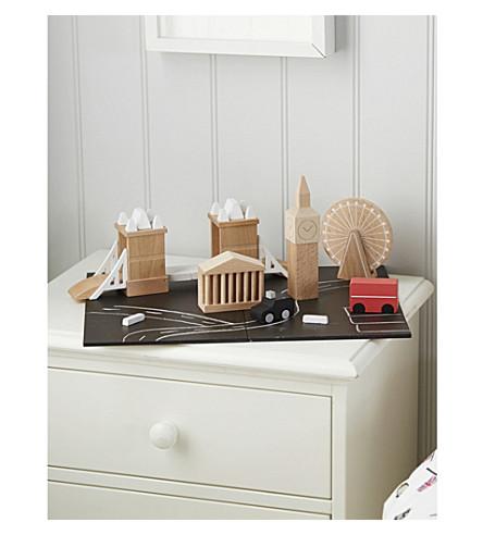 THE LITTLE WHITE COMPANY Wooden London cityscape toy set (Multi