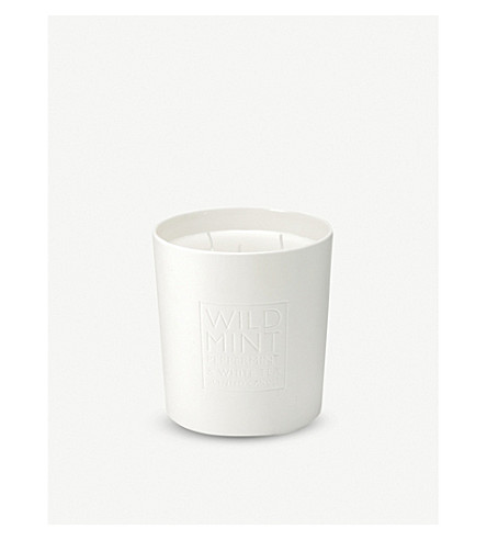 THE WHITE COMPANY Wild mint large 3-wick candle 740g (No+colour