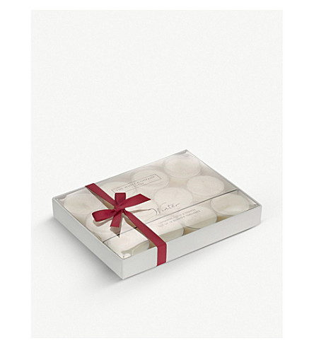THE WHITE COMPANY Winter scented tea lights set of 12 (No+colour