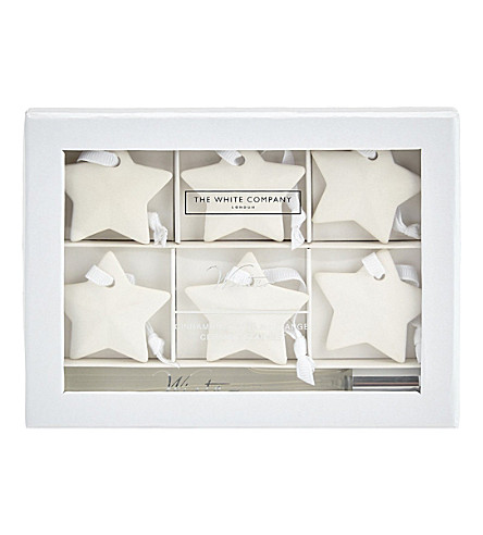 THE WHITE COMPANY Winter ceramic star decorations (No+colour