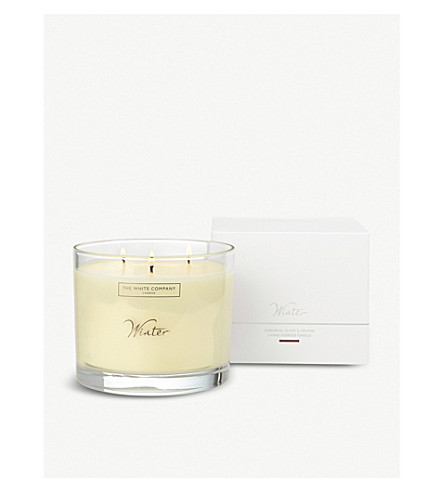 THE WHITE COMPANY Winter large mineral wax candle (No+colour