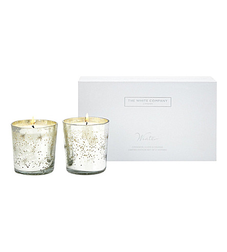 THE WHITE COMPANY Winter mercury votive candles (No+colour