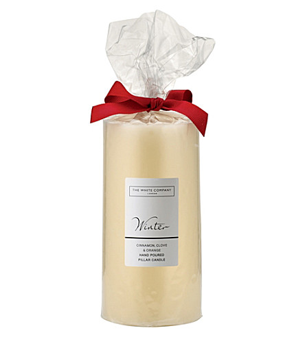 THE WHITE COMPANY Winter pillar candle (No+colour