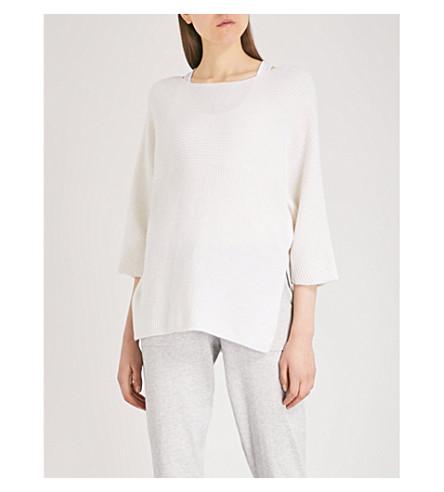 THE WHITE COMPANY Split-hem ribbed merino wool jumper (Porcelain