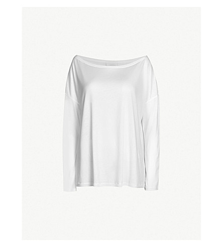 THE WHITE COMPANY Boat-neck jersey top (White