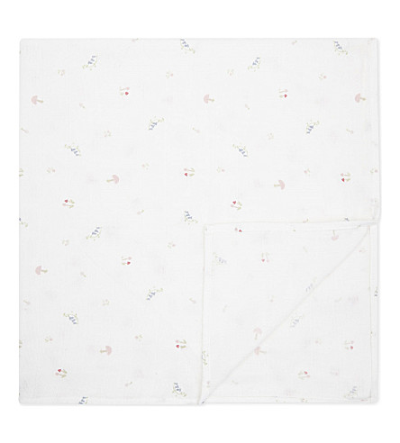 THE LITTLE WHITE COMPANY Woodland cotton muslins set of two (Multi