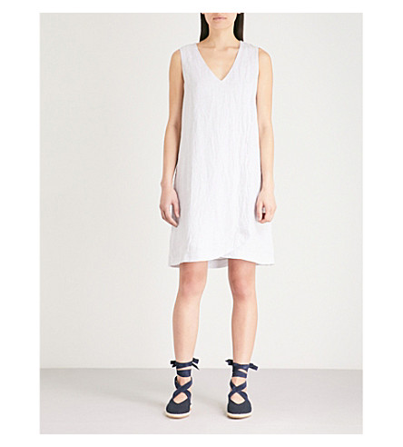 THE WHITE COMPANY Wrap over linen dress (Grey
