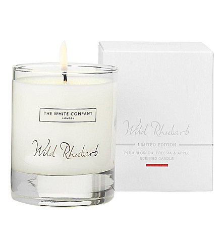 THE WHITE COMPANY Wild Rhubarb candle 140g (No+colour