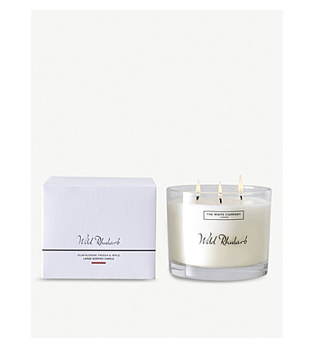 THE WHITE COMPANY Wild Rhubarb candle 770g (No+colour