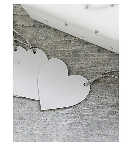 THE WHITE COMPANY Heart gift tags pack of 10 (White
