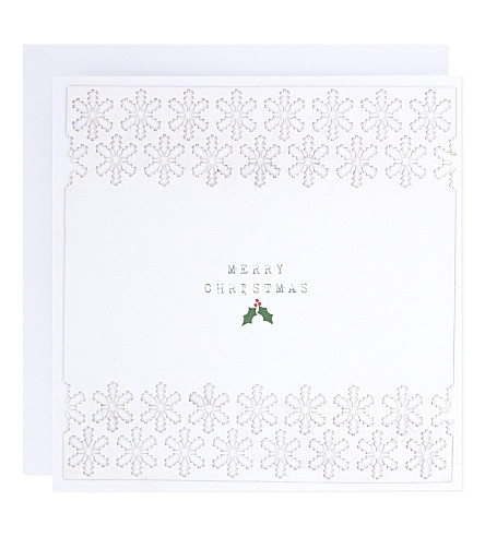 THE WHITE COMPANY Christmas laser-cut cards set of 10 (White