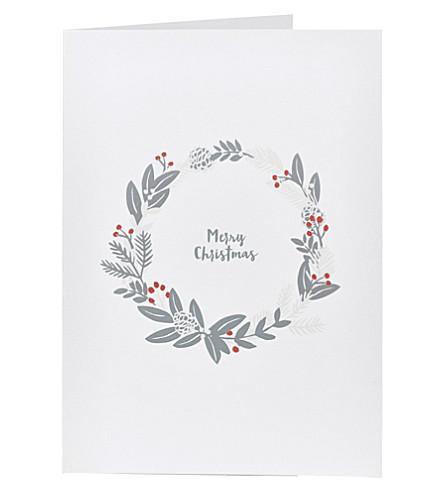 THE WHITE COMPANY Wreath Christmas card (White