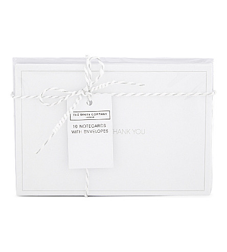 THE WHITE COMPANY Thank You cards pack of ten (Grey/white