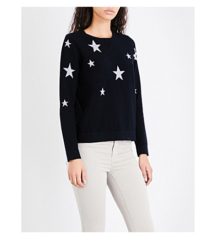 THE WHITE COMPANY Star-pattern wool jumper (Black