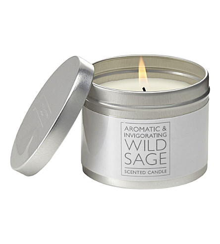 THE WHITE COMPANY Wild Sage tin candle (No+colour