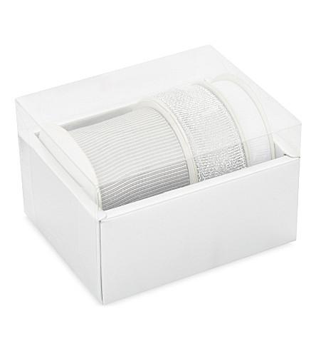 THE WHITE COMPANY Sparkle ribbon set (Silver/white