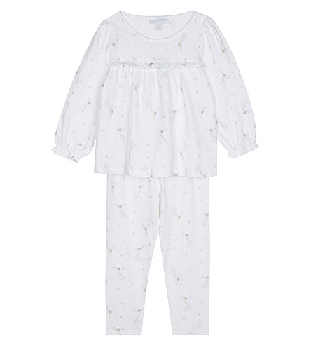 THE LITTLE WHITE COMPANY Fairy print cotton pyjamas 1-6 years (White