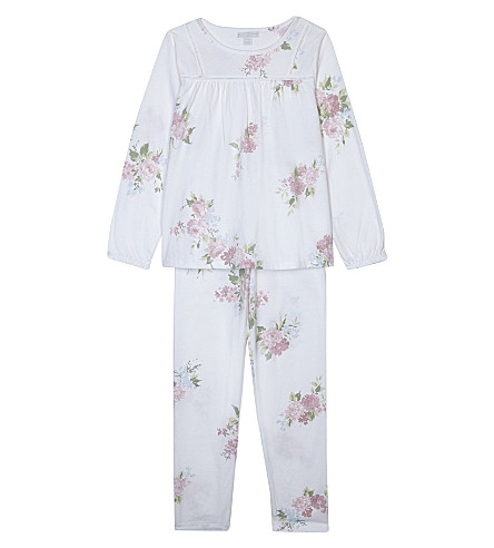 THE LITTLE WHITE COMPANY Winter Isabella cotton pyjama set 7-12 years (Multi