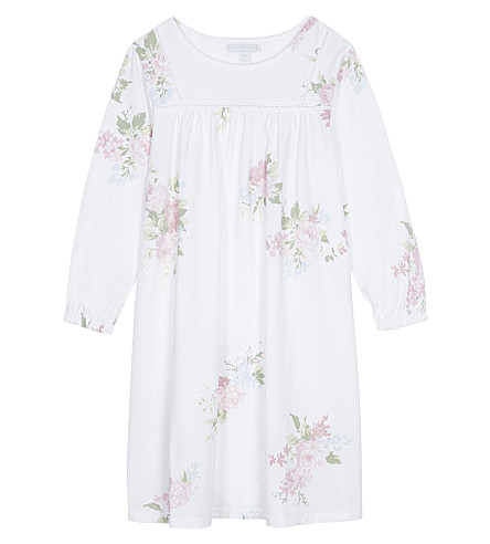 THE LITTLE WHITE COMPANY Isabella floral print cotton nightdress 1-6 years (White
