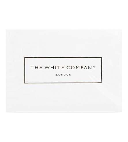 THE WHITE COMPANY Zipped cotton standard pillow protector set of two (White