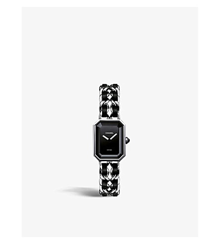 CHANEL H0451 Première steel and leather watch