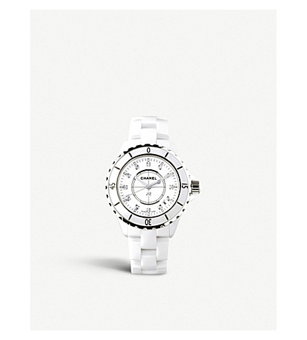 CHANEL H1628 J12 33mm Diamond Dial high-tech ceramic and steel watch