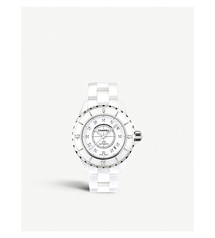 CHANEL H1629 J12 38mm Diamond Dial high-tech ceramic and steel watch