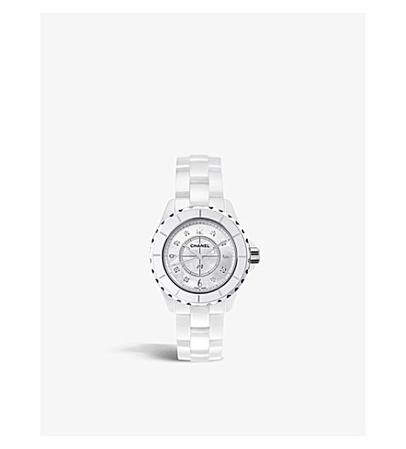 CHANEL H3214 J12 33mm mother-of-pearl and Diamond Dial watch