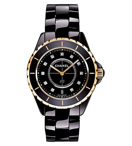 CHANEL H2543 J12 33mm Diamond Dial high-tech ceramic, 18ct pink-gold and diamond watch