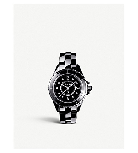 CHANEL H2569 J12 29mm Diamond Dial high-tech ceramic, steel and diamond watch