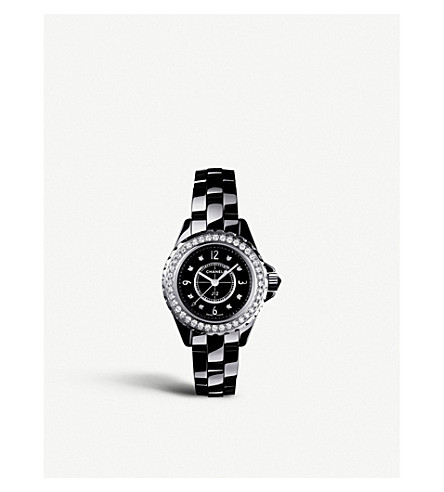 CHANEL H2571 J12 29mm Diamonds high-tech ceramic, steel and diamond watch